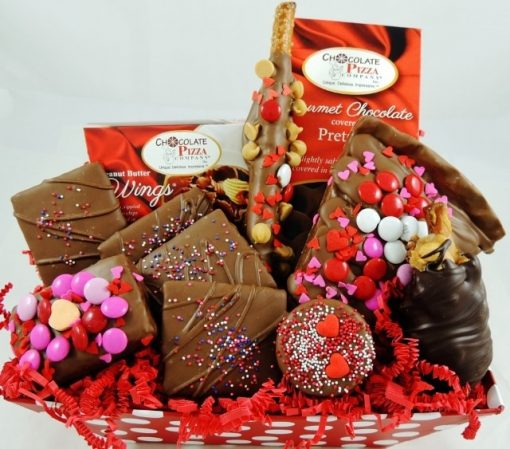 Valentines surprise gift basket
