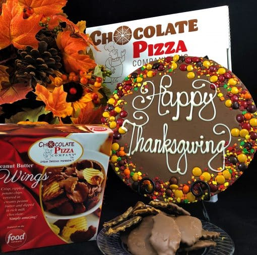 happy Thanksgiving chocolate pizza wings combo