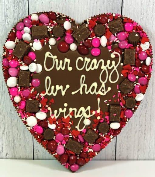 heart shape chocolate pizza custom
