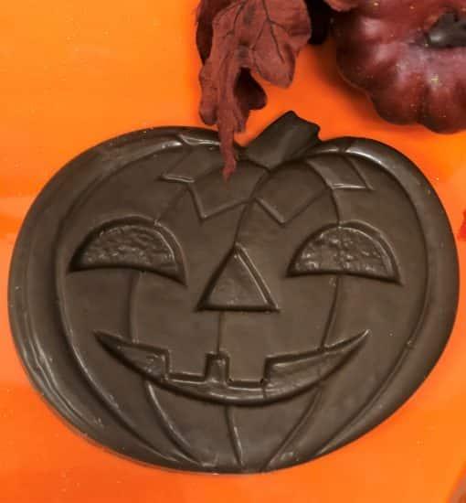 chocolate pumpkin jack o lantern