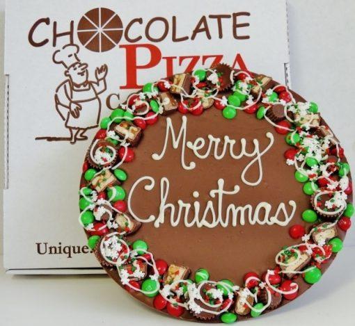 Merry Christmas Chocolate Pizza
