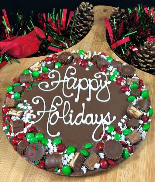 happy holidays chocolate pizza avalanche border
