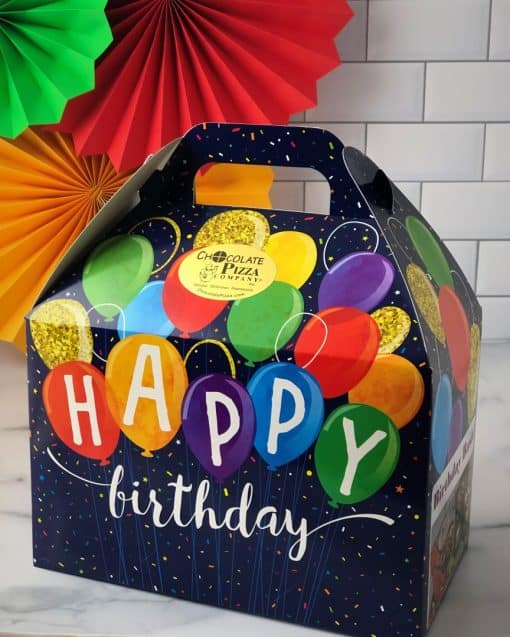happy birthday chocolate tote box