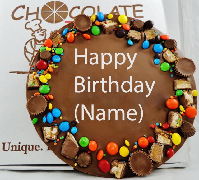 personalized birthday chocolate pizza