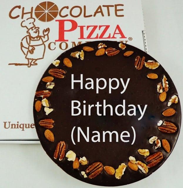 Custom chocolate pizza birthday wishes add a name m4hsunfo