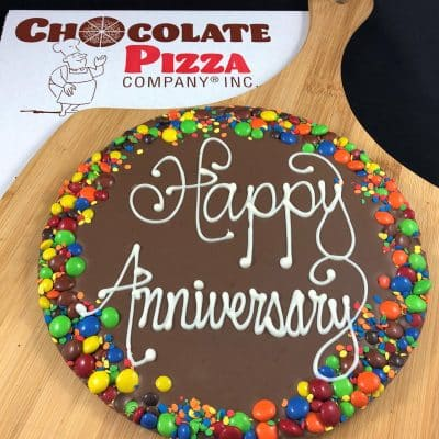 anniversary chocolate pizza