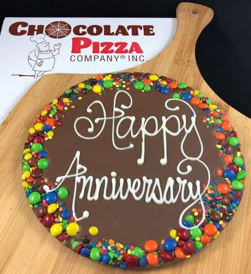 anniversary chocolate pizza