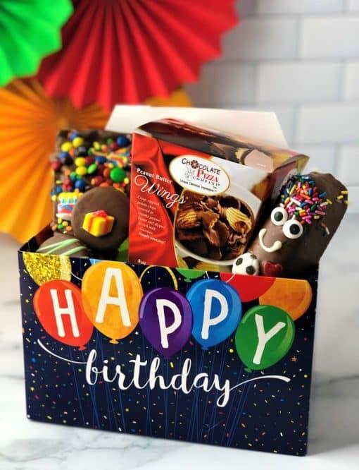birthday chocolate tote box