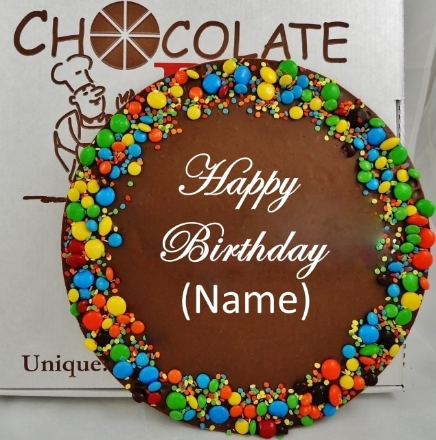 custom chocolate pizza birthday wishes