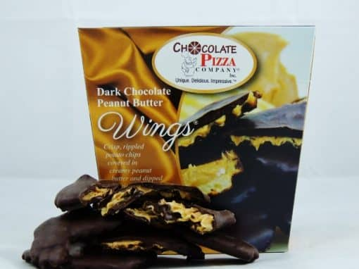 large dark peanut butter wings