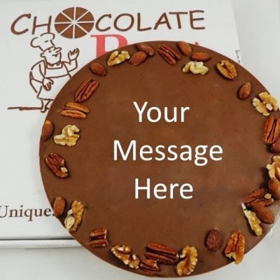 customized chocolate pizza