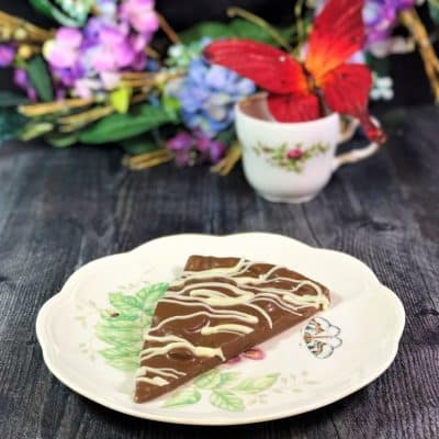 slice of chocolate pizza on plate