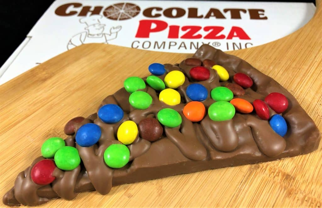 Chocolate Pizza Slice with Candy Toppings - 6 Oz.