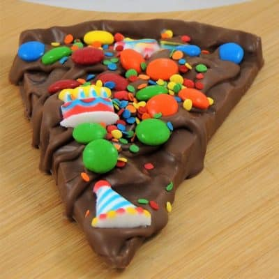 birthday chocolate slice