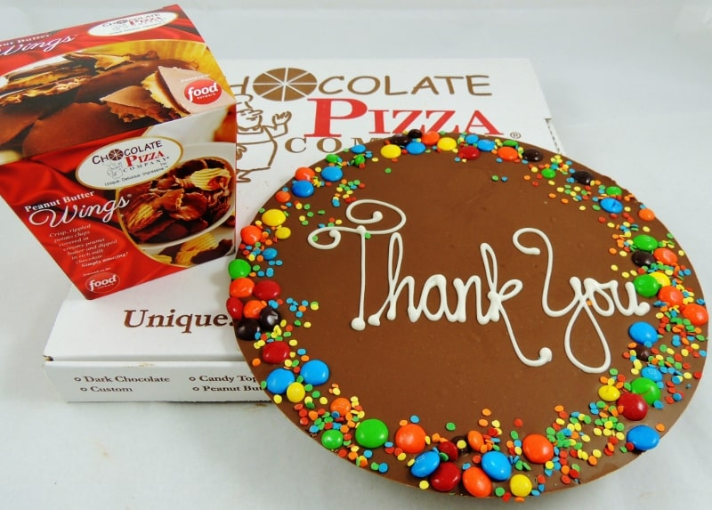 Thank You Gift Idea Chocolate Pizza Choose A Border