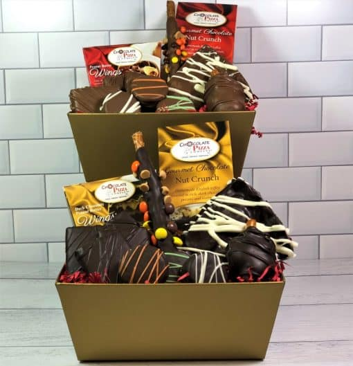 chocolate lovers gift baskets milk or dark chocolate