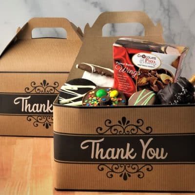 thank you chocolates gift tote box