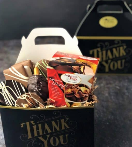 thank you chocolates in tote box