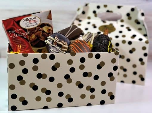 chocolates in a tote box as a thank you gift