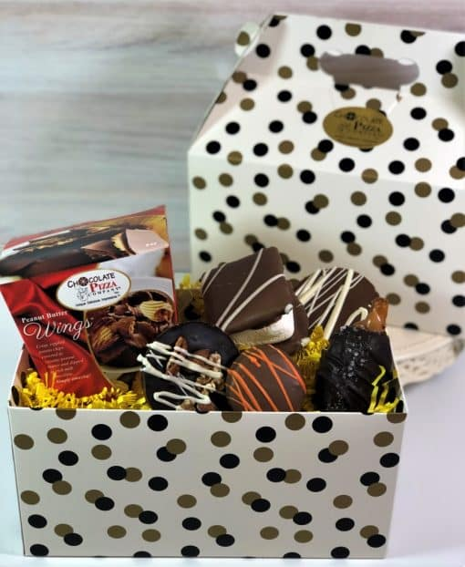 thank you gift of chocolates in a tote box