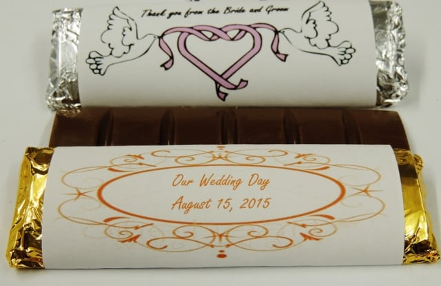 Chocolate Bar, Custom Wrapper | personalized wedding favors, quantity 10