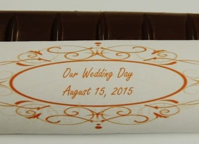 chocolate bar wedding favor