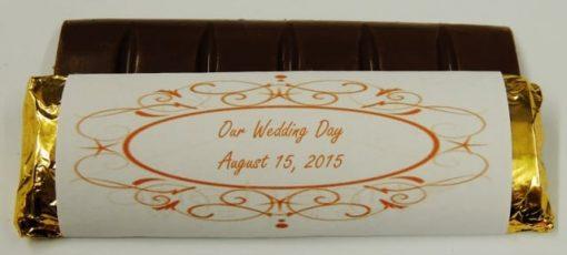 chocolate bar wedding favor