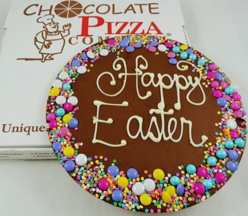 candy border Happy Easter Chocolate Pizza