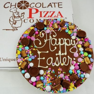 Happy Easter Chocolate Pizza avalanche border