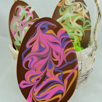chocolate Easter egg swirled