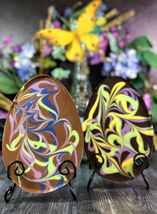 pastel chocolate Easter Eggs