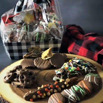 Lumberjack chocolate gift basket