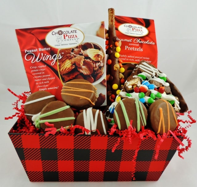Gift Baskets for Men | Red Plaid to the Rescue