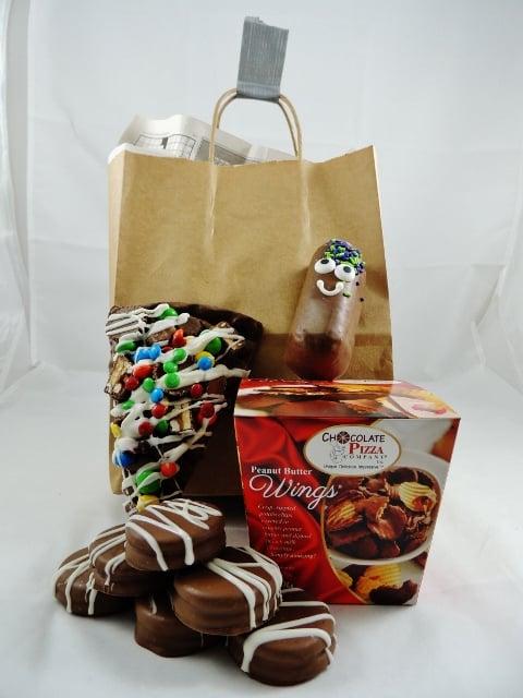 mansket no frills gift for him brown bag wings slice cookies