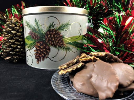 Peanut Butter Wings holiday tin