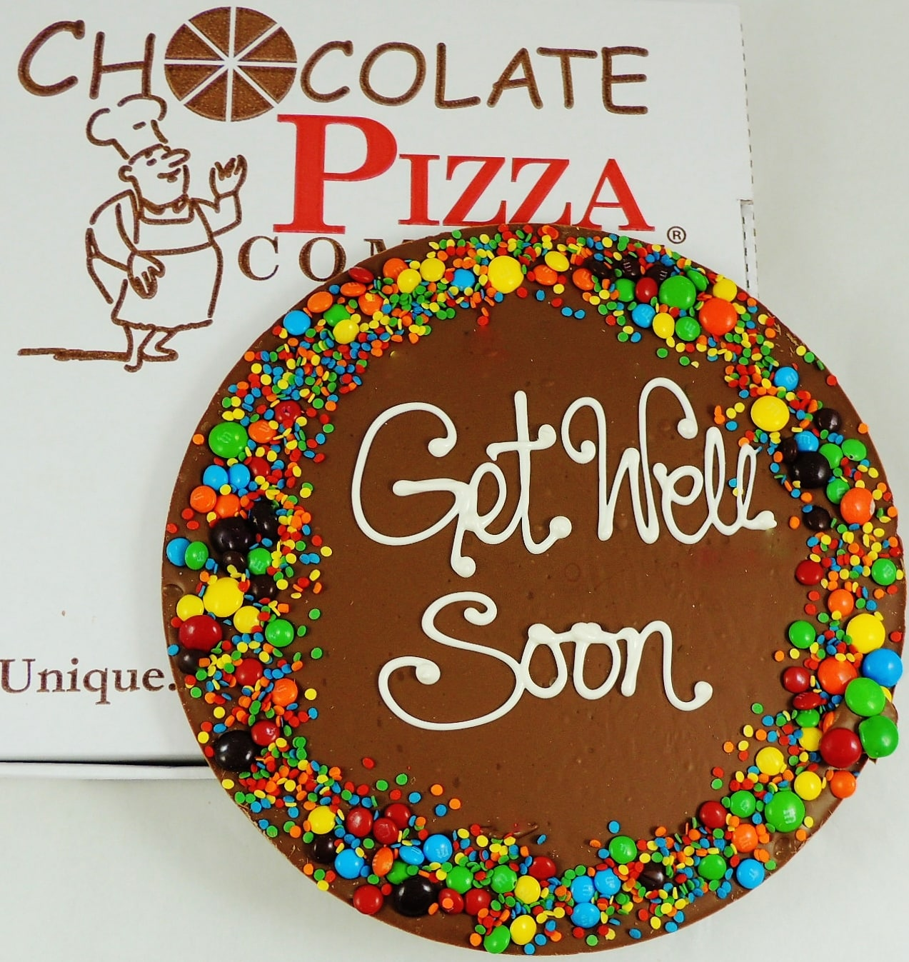 Get Well Soon Chocolate Pizza Your Choice Of Border
