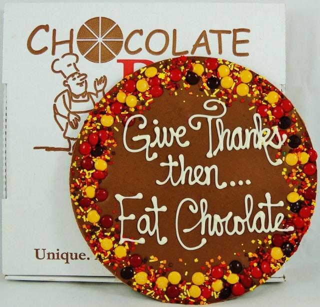 Thanksgiving dessert idea | Chocolate Pizza sweetens Turkey Day