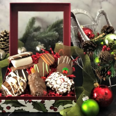 winter gift box of chocolates