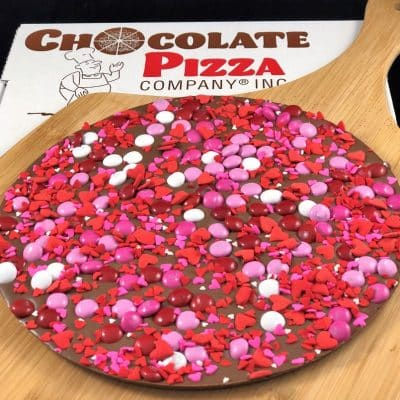 Valentines gift idea chocolate pizza