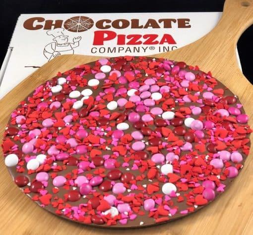 Valentines gift idea chocolate pizza