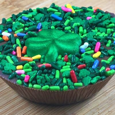 peanut butter cup decorated shamrock