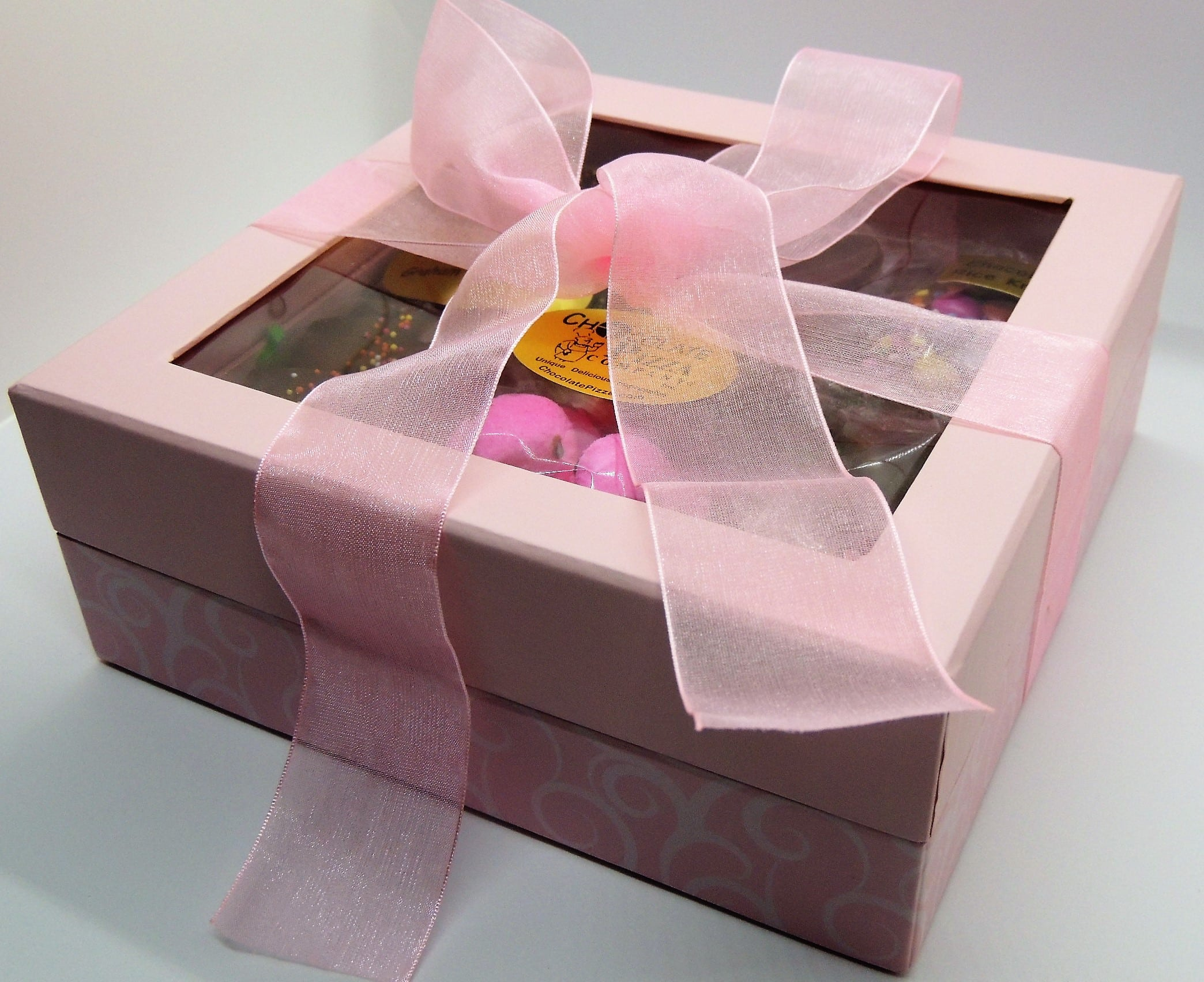 Easter gifts for her gourmet chocolate dressed in pink negle Image collections