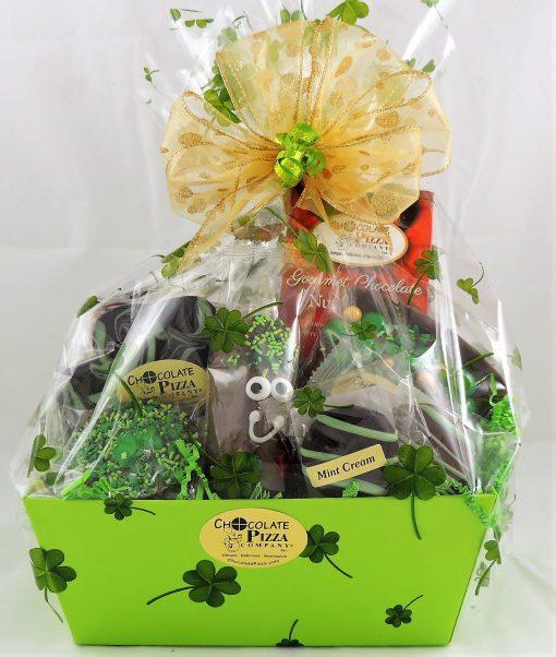 St Patricks Day gift basket shamrock