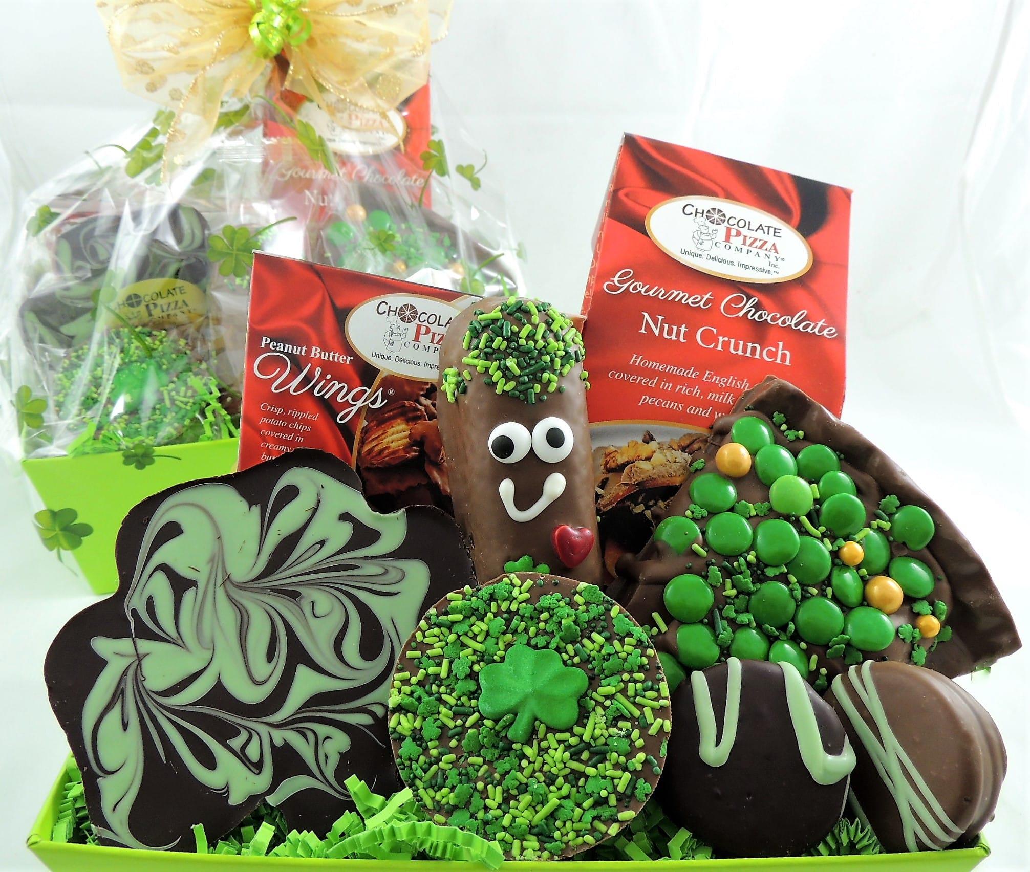 53f04d63 St Patricks Day Gift Basket | shamrocks, chocolate & smiles