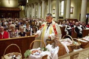 Easter baskets blessing