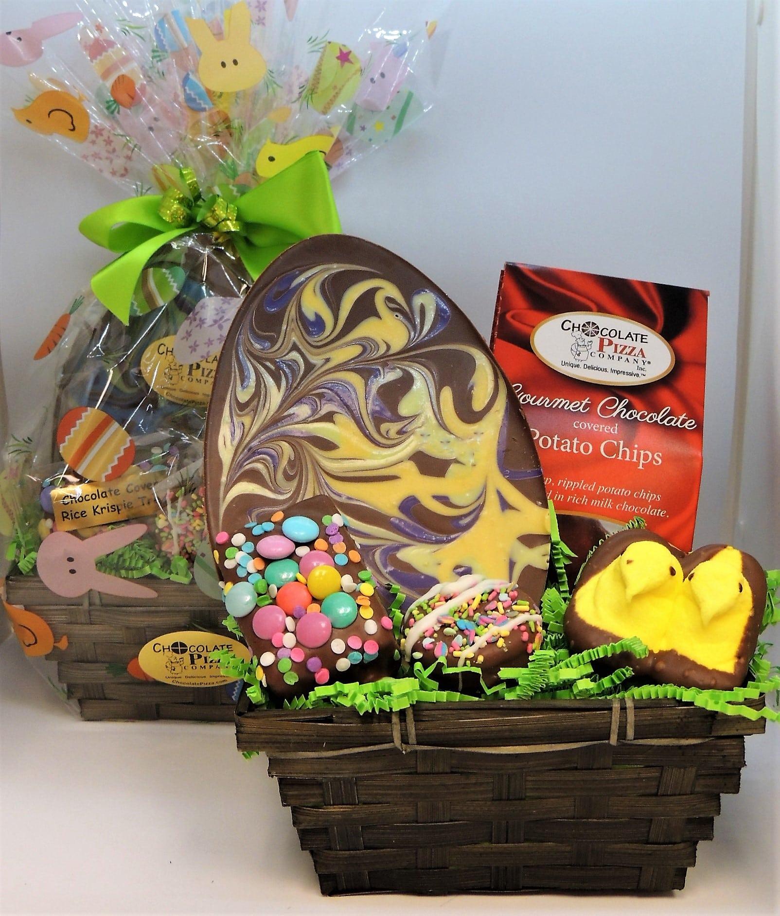 easter baskets with pastel easter egg handcrafted. Black Bedroom Furniture Sets. Home Design Ideas