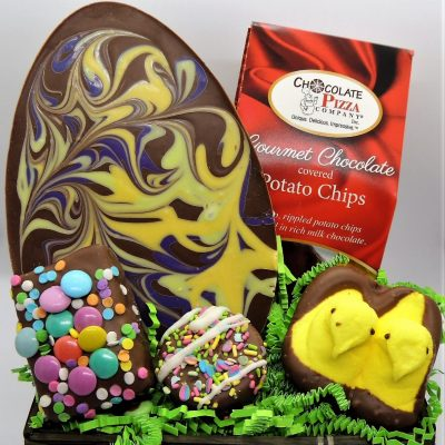 Easter baskets swirled Easter Egg