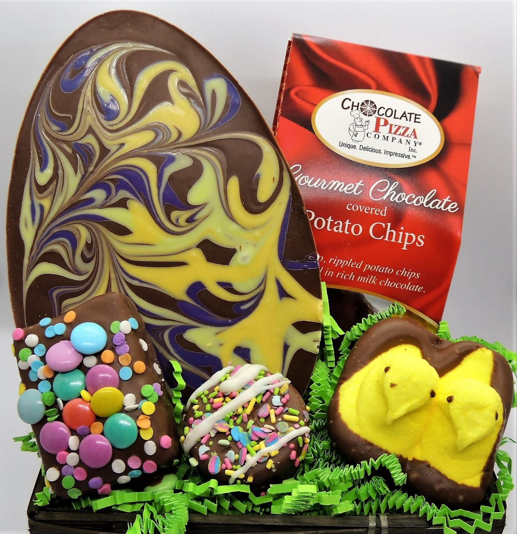 Easter Baskets Swirled Egg