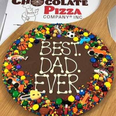 best dad ever happy fathers day chocolate pizza