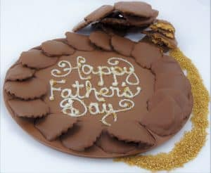 Fathers Day Gold Rush Chocolate Pizza